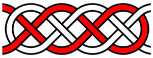 Basket weave knot - A diagram of a long basket weave knot on a 2x5 grid