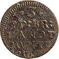 3 Pfennige, Landesdenkmalamt Berlin, Ausgrabung U5, 2827 – 5948, Vorderseite.jpg