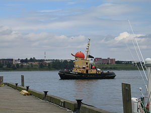 Theodore Tugboat - This life-size version of Theodore Tugboat, Theodore Too plies the waters of Halifax Harbour.