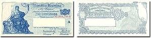 Argentine peso moneda nacional - Image: 50 Centavos Moneda Nacional A B 1903