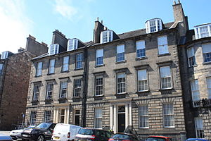 Robert Pitcairn (antiquary) - Robert Pitcairn lived in an attractive flat at 50 North Castle Street, Edinburgh