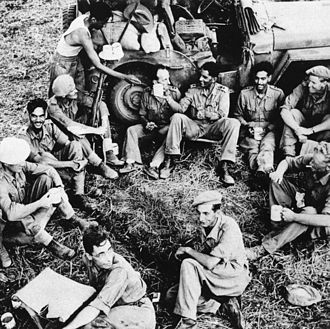 Baloch Regiment - Officers of 7/10th Baluch (15 Baloch) after the fall of Pegu, Burma, 1945.