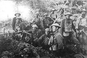 6th Machine Gun Battalion (United States Marine Corps) - Members of the 77th Company, 6th Machine Gun Battalion, and French poilus near Belleau Wood. Unknown date.