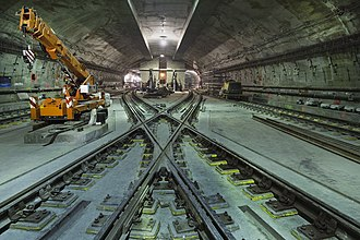 7 Subway Extension - The diamond crossover north of 34th Street