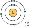 7 nitrogen (N) Bohr model.png