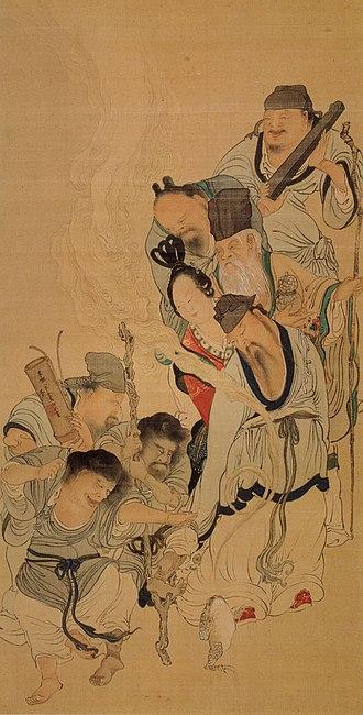 Tani Bunchō - 8 Daoist Immortals by Tani Bunchō