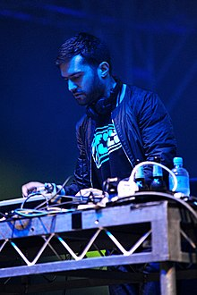 A-Trak performing at Sir Stewart Bovell Park in 2011