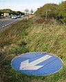 A46 verge, public footpath and orphaned roadsign - geograph.org.uk - 1517866.jpg