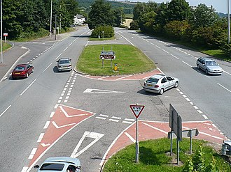 Castleton, Newport - A48 dual carriageway passing through Castleton