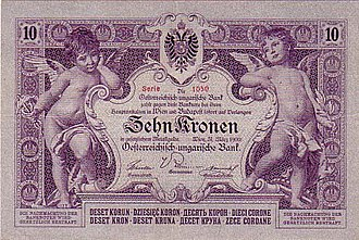 Banknotes of the Austro-Hungarian krone - Image: AHK 10 1900 obverse