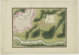 Kandy - Dutch map of Kandy approximately 1765