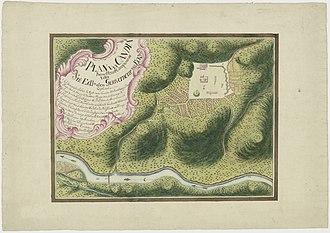 Kandy - Dutch map of Kandy approximately 1765