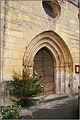AUBAS (Dordogne) - Porte de l'église Saint-Cyr et Sainte-Julitte.JPG