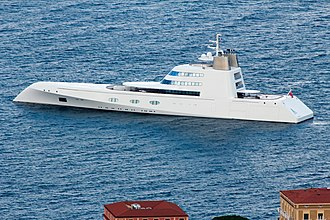 A (motor yacht) - Image: A (ship) at Sorrent 2012 3