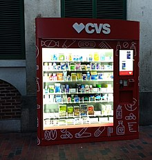 A CVS kiosk set up in Quincy Market Boston, Massachusetts.