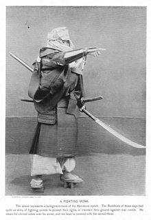 A Fighting Monk, Military Costumes in Old Japan..jpg