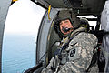 A U.S. Soldier assigned to the Puerto Rico Army National Guard flies in a UH-60 Black Hawk helicopter near Vieques, Puerto Rico, June 27, 2014 140627-Z-KD550-563.jpg