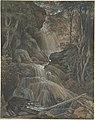A Waterfall in a Forest at Langhennersdorf MET DP803860.jpg