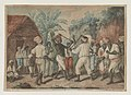 A cudgelling match between english and french negroes in the Island of Dominica LCCN2003664843.jpg