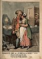 A man cavorting with a young woman, while his recently decea Wellcome V0011181.jpg
