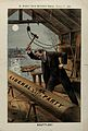 A man hitting a boat with a hammer Wellcome V0050337.jpg
