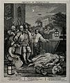 A night scene with Tom Nero apprehended in a church-yard bef Wellcome V0049210.jpg