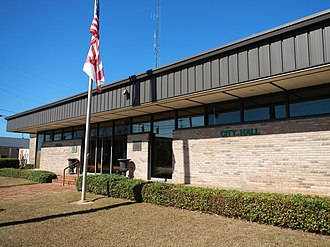 Abbeville, Alabama - Image: Abbeville Alabama City Hall and Police Department
