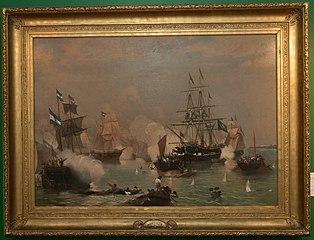 Abordagem da corveta Maceió e da escuna Dois de Dezembro