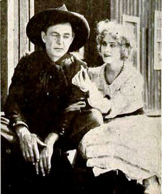 Viola Barry - Harry Carey and Viola Barry in Ace of the Saddle (1919)