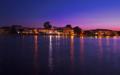 Acharavi on Corfu at night.png