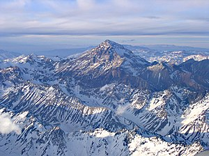 Andes - Aerial view of Aconcagua.