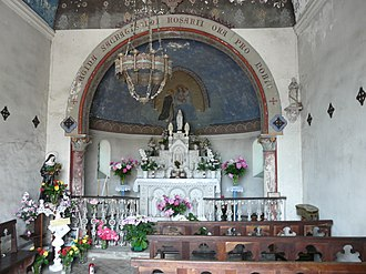 Adé, Hautes-Pyrénées - Image: Adé chapelle Rosaire intérieur