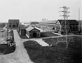 National Register of Historic Places listings in Niagara County, New York - Image: Adams Power Plant Date Unknown HABS 15 General View From Southeast cropped