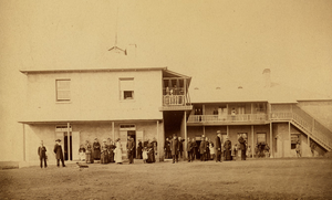 Newton Adams - The Adams Mission, near Amanzimtoti pictured in 1886