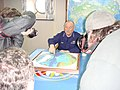 Admiral Allen uses Arctic Model to help describe the Coast Guard missions in the Arctic (4424332928).jpg