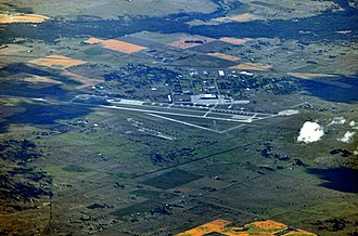 Fairchild Air Force Base - Aerial view of Fairchild from the southeast