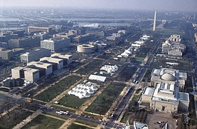 Die National Mall am 20. Januar 1993 bei der Inauguration von Bill Clinton