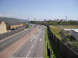 A4241 road - Image: Afan Way, Aberavon