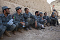 Afghan Uniform Police officers receive feedback after conducting evidence collection training at Forward Operating Base Zeebrugge in Kajaki, Afghanistan, April 27, 2013 130427-M-QZ858-050.jpg