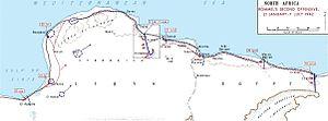 Den libyske ørken omkring slaget ved Gazala