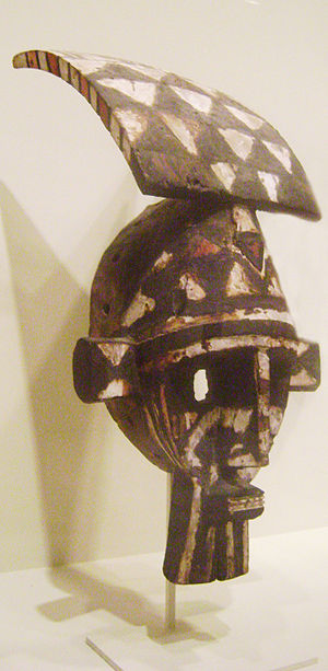 Marka people - Face mask of the Marka people, Burkina Faso. Mid 20th century. Wood, pigment. In the collection of the Cincinnati Art Museum