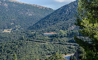 Agia Lavra - Image: Agia Lavra monastery (September 2016), view from Greek Independence War monument