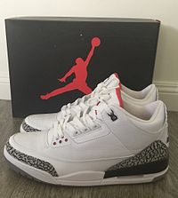 48666372c42 Nike Air Jordan III, (White Cement Colorway)