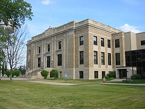 Das Aitkin County Courthouse in Aitkin, gelistet im NRHP Nr. 82002923[1]