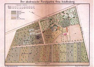 Giessen - Image: Akademischer Forstgarten Giessen Plan