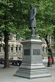 Statue of Bishop James Fraser, Albert Square, Manchester.