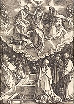 Albrecht Dürer, The Assumption and Coronation of the Virgin, 1510, NGA 6748.jpg