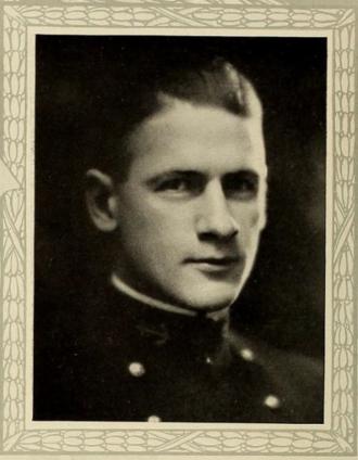 Alden Sanborn - Sanborn as a midshipman, ca. 1922