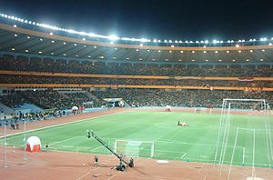 Aleppo International Stadium - The stadium at night