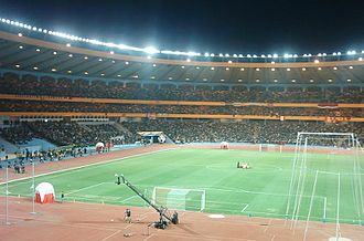 Al-Ittihad SC Aleppo - Al-Ittihad fans crowded in the Aleppo International Stadium